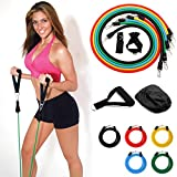 AllRight 11 Pcs Resistance Band Set, Heavy Duty Quality Pilates Yoga Exercise Resistance Bands, Fitness Bands for Men/Women