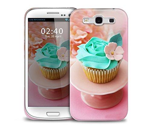 telŽfono protectora cubierta de la caja azul dulce de la magdalena Samsung Galaxy S3 GS3 pl‡stico