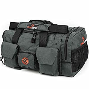 King Kong Original 1000D nylon gym bag, charcoal