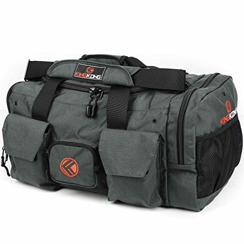 - King Kong Original Nylon Gym Bag - Heavy Duty and Water-Resistant Duffle Bag - Military Spec Nylon- Heavy Duty Steel Buckles - 20
