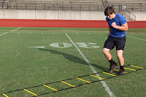 Sport Speed (Two) NO CHEAT Agility Ladders Round Rung Team Grade Heavy Duty with Free Carry Bag