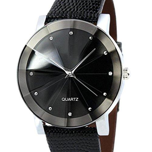 Men Luxury Quartz Sport Watch Ninasill Convex Surface Watch Leather Watch