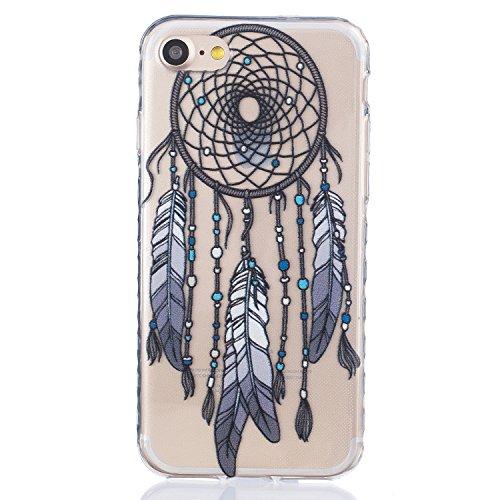 Für Apple iPhone 7 (4.7 Zoll) Hülle ZeWoo® TPU Schutzhülle Silikon Tasche Case Cover - BF080 / Schwarz Campanula