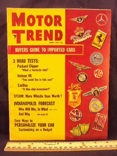 1955 55 June MOTOR TRENDS Magazine (Features: 1955, used for sale  Delivered anywhere in USA