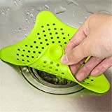 QISQI 1Pc Star Sewer Outfall Strainer Bathroom Sink Filter Anti-blocking Floor Drain Hair Stopper & Catcher Kitchen Bathroom Accessory