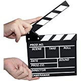 """COOLOO Wooden Director Action Sign Prop Film Movie Clapper Board,7.8""""x8""""/20cm x 21cm"""