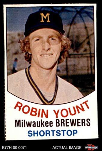 1977 Hostess # 34 Robin Yount Milwaukee Brewers (Baseball Card) Dean's Cards 3 - VG Brewers