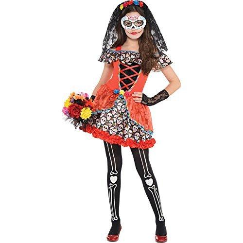 Sugar Skull Costumes Dress (Sugar Skull Senorita Costume - Large)