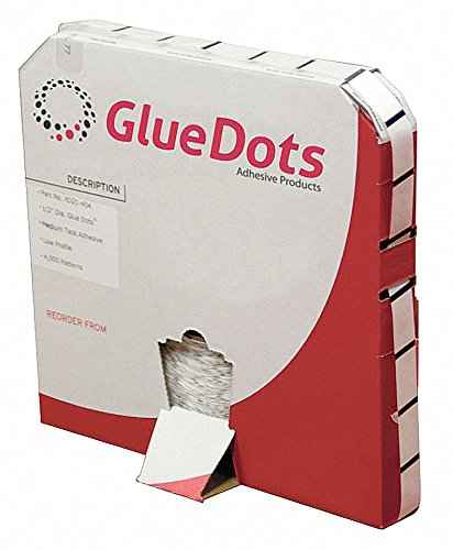 Adhsv Dot, Clear, 1/2in, Med Track, PK4000 by Glue Dots