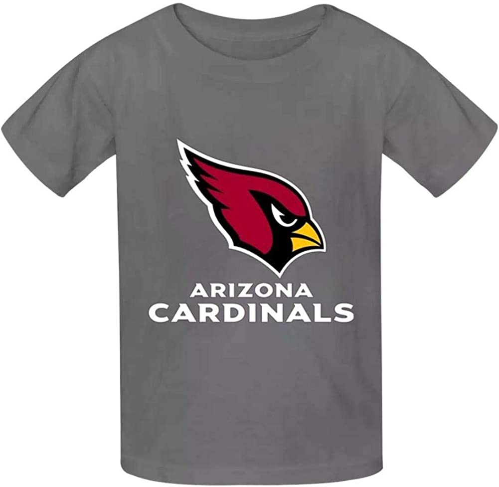 MICAKOS ARIZONA CARDINALS Youth Kids Y Round Neck shirt Cotton Short Sleeve for Sports Graphic T-Shirt