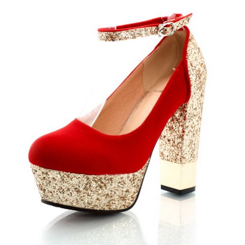 weipoot-womens-assorted-colors-closed-toe-pumps-shoes-with-buckle-and-sequin-red-37