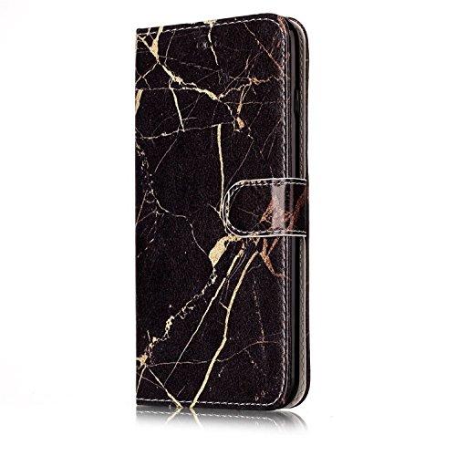para iPhone 6/6s PU Cuero Funda, Vandot 3D Bling Rhinestones Mariposa Shell TPU Inner Bumper Case Funda con Billetera Tapa Holster Cierre Magnético Tarjeta Ranura Carcasa Teléfono Concha Bolsa Capas C DLS -5