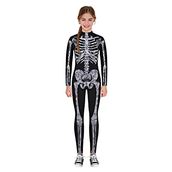 Amazon.com: Disfraz de esqueleto de calavera divertida para ...
