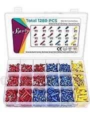 Sopoby - Juego de 1280 piezas de conectores eléctricos planos y terminales de soldadura, conectores de terminales, surtido de conectores