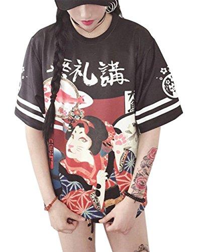 Harajuku Girls Clothing - Girl Japanese Street Style Loose T-Shirt