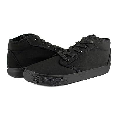 TK's Cheryl Slip Resistant Black Sunbrella Mid Top Water Resistant Non Slip Waitress Shoes: Shoes