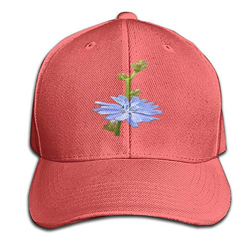Chicory Apparel - juiceTshirts Design Personalized Snapback Chicory Plant Stem Flower Hats Red