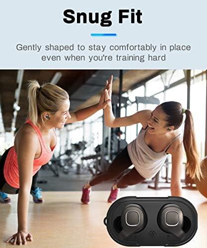 Wireless Earbuds, Bluetooth 5.0 Headphones Waterproof True Wireless Stereo Earphones Noise Canceling in-Ear Mini Earphones with Charging Box