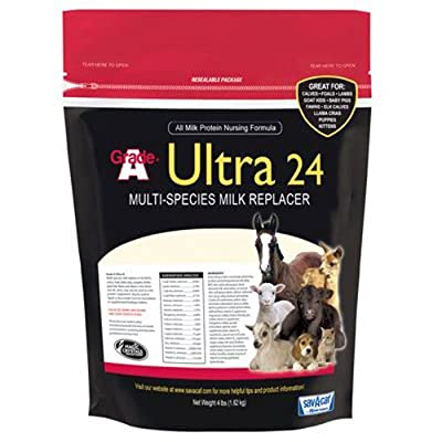 Milk Products 01-7428-0215 Livestock Milk Replacer, Ultra 24, 4-Lbs. by Milk Products