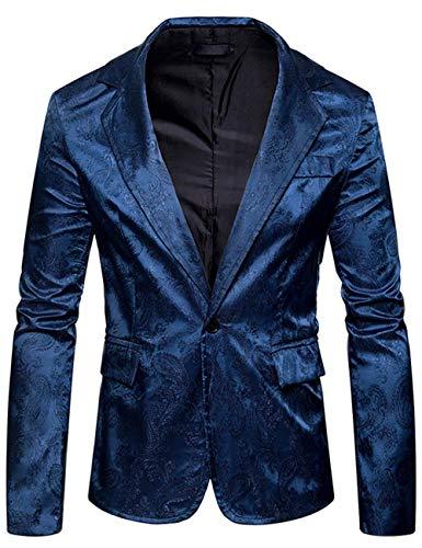 Moderne Veste Costume Vestes Slim Fit Blau Blazer Classique Homme Mode Décontractée Élégantes Loisirs La Sweat À Casua qpCwxx8S