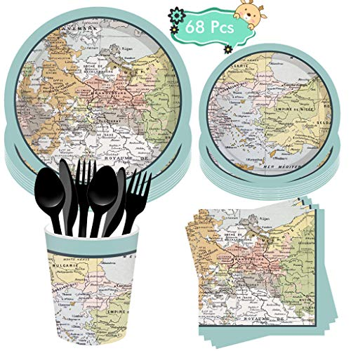 Check expert advices for map napkins and plates?