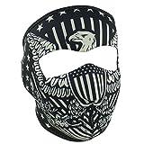 USA American Federal Patriotic Eagle Flag Reversible to Black Neoprene Full Face Mask
