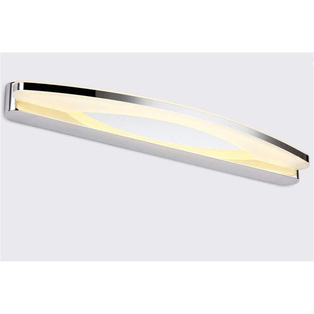 Warm Weiß WYFLM WLBD Badezimmer Wandleuchten Led Badezimmerspiegelleuchte Edelstahl und Acryl Spiegel Front Make-Up Beleuchtung, 12 Watt Warmweiß