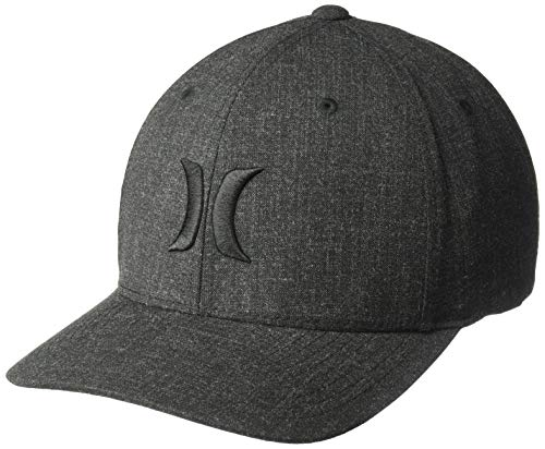 Hurley Men's Black Textures Baseball Cap, (Blend), L-XL -