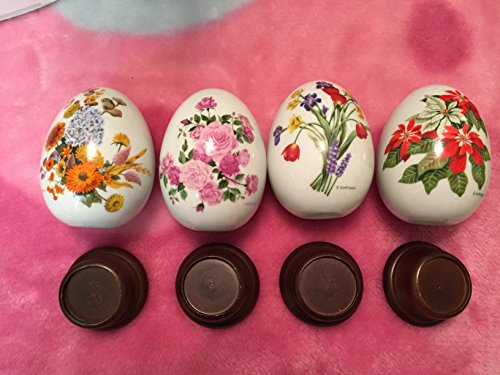 Avon Porcelain Egg - Avon Set of 4 Seasons Porcelain Eggs with Stands
