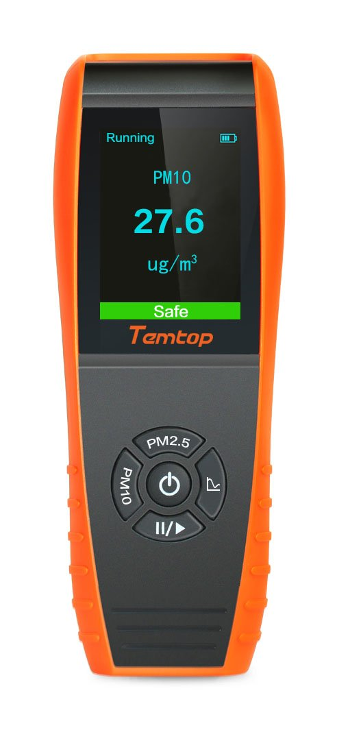 Temtop Air Quality Laser Paticle Detector Professional Meter Accurate Testing for PM2.5/PM10 TFT Color LCD Display P600