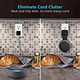 Myriann Outlet Wall Mount Hanger Holder Compatible with Dot 3rd Generation, A Space-Saving Solution for Your Smart Home Speakers, Built-in Cable Management, Without Messy Wires or Screws …