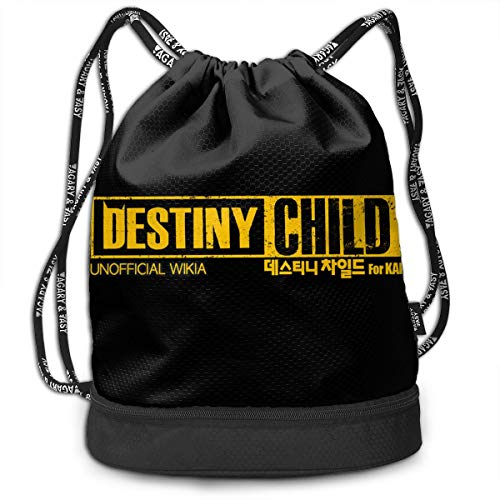 15yishi Destiny Child Personalized Multifunctional Beam Drawstring Backpack Unisex Suitable for Outdoor Travel