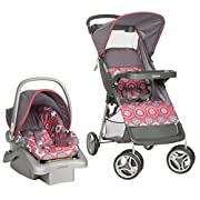 Cosco Lift & Stroll Travel System - Car Seat and Stroller – Suitable for Children Between 4 and 22 Pounds, Posey Pop