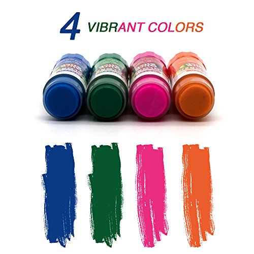 Emraw Washable Colored Glue Stick Safe Smooth Wrinkle Acid Free - Colors Included: Blue, Green, Pink & Orange - for Photos, Papers, Envelops Etc. Good for Home, Office & School (Pack of 8)
