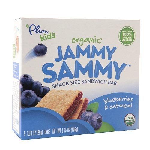 Plum Kids Organic Jammy Sammy Snack Size Sandwich Bar, Blueberry & Oatmeal 5.15 Oz (145 G) Pack of 2 by Plum Kids [並行輸入品]   B01AKZXI0I