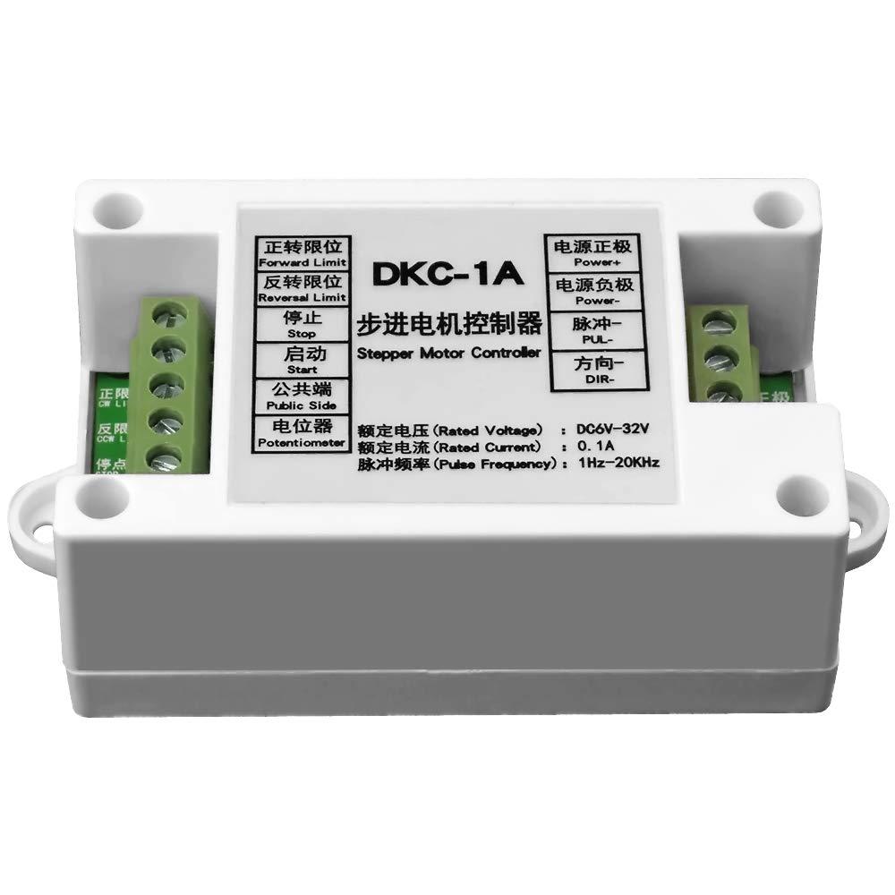uniquegoods DCK-1A Stepper Motor Controller DC 6V-32V Industrial Driver Module Pulse Generator Servo PLC Potentiometer Speed Regulation