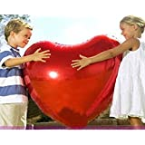 75Cm Large Aluminum Inflatable Foil Balloons Lovers Heart Balloon Gift Helium Balloon Birthday Party Decoration Ball Classic Toy^.