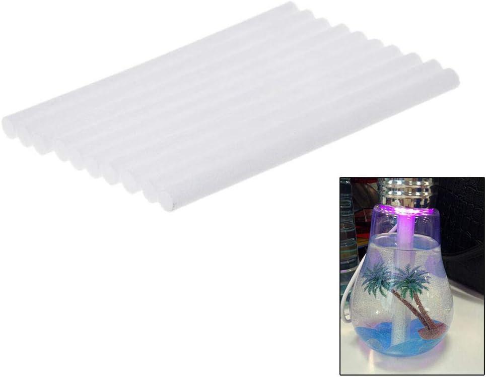 Lot de 10 filtres humidificateurs 8 x 130 mm en coton pour humidificateur /à ultrasons USB