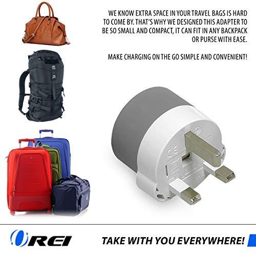 OREI UK 2 USA Inputs Dubai Travel Plug Adapter Ireland Type G 3 Pack