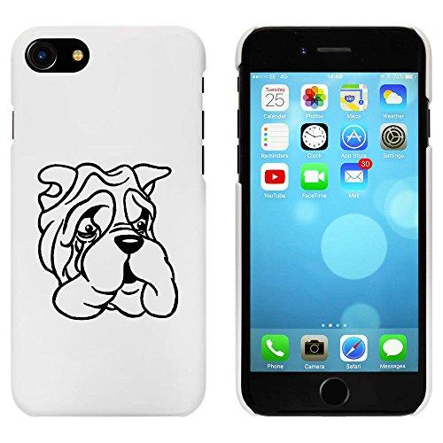 Blanc 'Bulldog Grincheux' étui / housse pour iPhone 7 (MC00067174)
