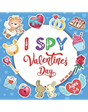 I Spy Valentine's Day Book For Kids Ages 2-5: A Fun Guessing and Coloring Game Book For Little Girls and Boys | Cute & Interactive Valentine Activity Book For Preschoolers & Toddlers