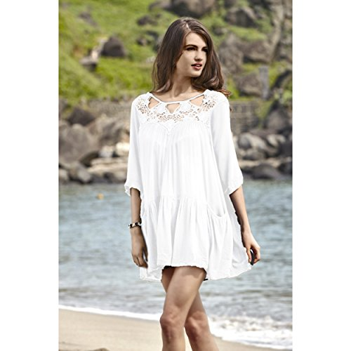Collection Cotton Swimsuit Coverup Neckline