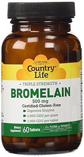 (Country Life - Triple Strength Bromelain, 500 mg - 60 Tablets)