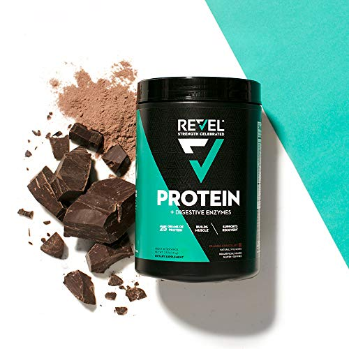 Revel Whey Protein Powder for Women | 25g Protein | Supports Weight Loss Metabolism Lean Muscle | 2lbs (Classic Chocolate)