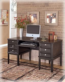 Amazoncom Carlyle Small Leg Desk by Ashley Furniture Kitchen