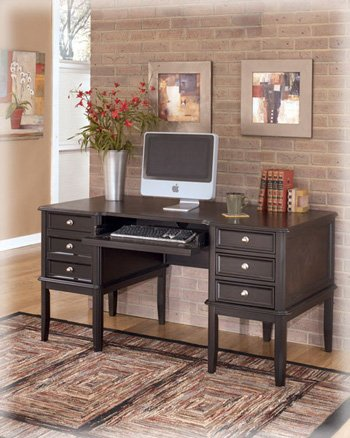 ashley furniture signature design carlyle home office desk 3 drawers and 1 file drawer