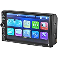 AMA(TM) 7 Double 2 DIN Bluetooth Wireless Car Stereo Radio Touch Screen MP5/MP3 Player with FM Receiver USB AUX Input SD Slot, Camera Function