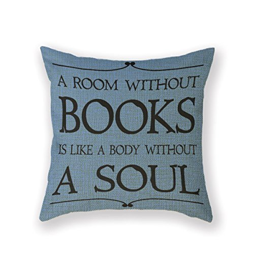 Pillowcase Apron - Customized Standard Pillowcase Librarian Library Booklover A Room Without Books Throw Pillow 18 X 18 Square Pillowcase Throw Pillow Cover Cushion by Cushion Cover