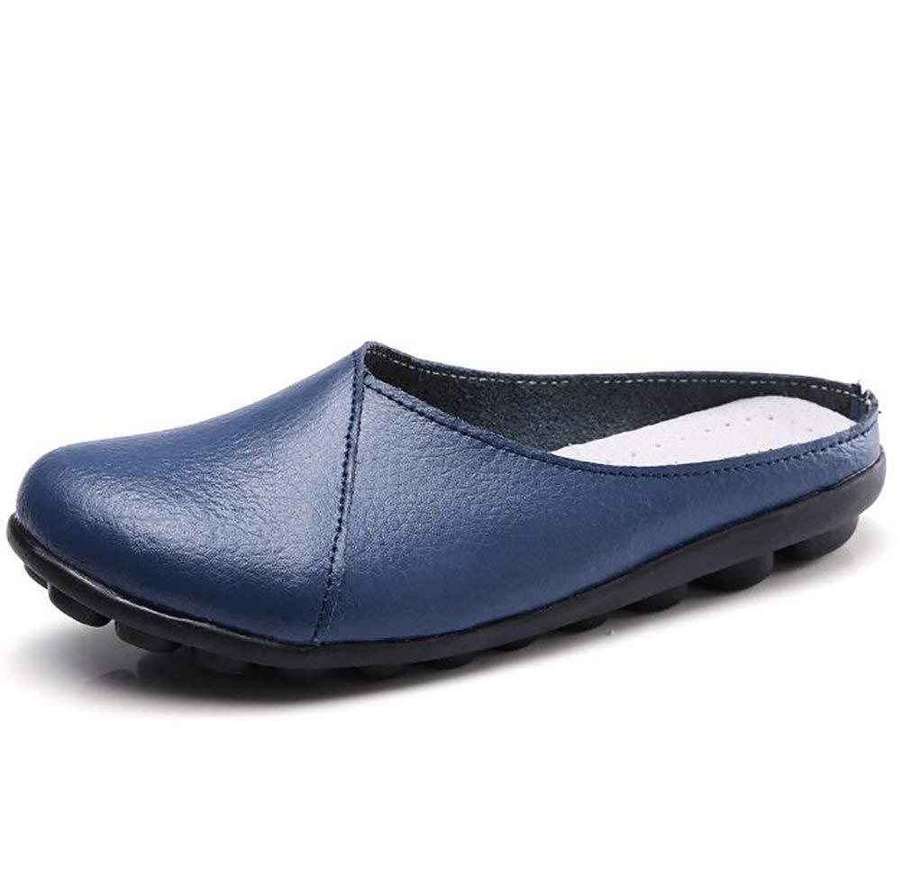 US6 // EU36 // UK4 // CN36 Oudan Low Heels Shoes Ladies Genuine Leather Slipper Pure Color Sole Anti-Slip Soft Bottom Shoes Color : J, Size : US5.5//EU36//UK3.5//CN35 D