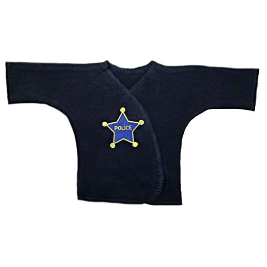 84e36ffdc Amazon.com  Jacqui s Baby Boys  Navy Blue Police Officer T-Shirt ...